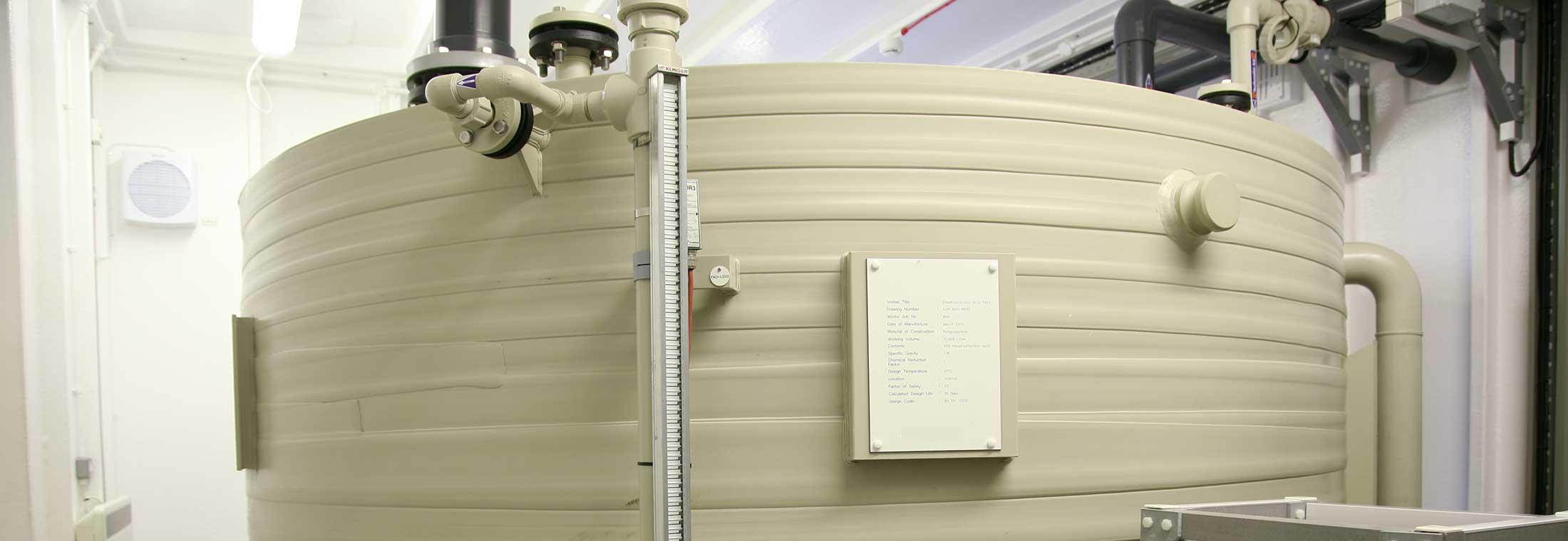 Storage Tanks. Caustic, Ferric, Fluoride, P Removal