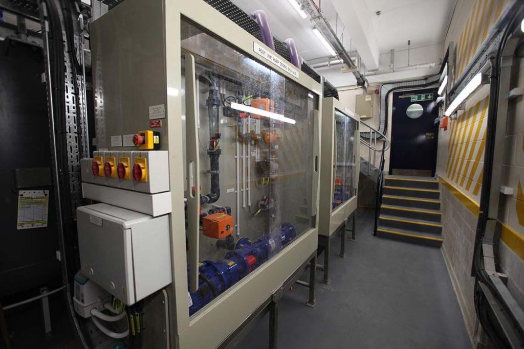 Lime Dosing Pumps in Dosing Enclosure